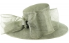 Failsworth Millinery Bow Events Hat in Steel