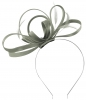 Failsworth Millinery Satin Loops Aliceband Fascinator in Steel