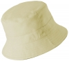 Failsworth Millinery Cotton Reversible Bucket Hat in Stone