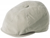 Failsworth Millinery Hudson Microfibre Bakerboy Cap in Stone