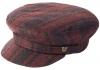 Failsworth Millinery Camden Wool Cap in Stripe 2 - Red