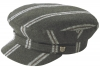 Failsworth Millinery Camden Wool Cap in Stripe 3 - Grey