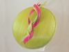 Suzie Mahony Designs Lime and Cerise Orchid Silk Dome Hat