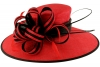 Failsworth Millinery Two Tone Events Hat in Tabasco & Black