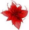 Failsworth Millinery Organza Leaves Fascinator in Tabasco