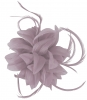 Aurora Collection Flower and Biots Fascinator in Taupe
