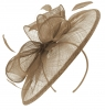 Failsworth Millinery Sinamay Disc Headpiece in Taupe