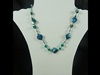 Natural Stone Necklace in Teal