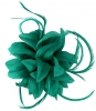 Aurora Collection Flower and Biots Fascinator in Teal