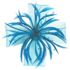 Aurora Collection Biots and Beads Fascinator in Turquoise