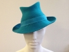 Couture by Beth Hirst Felt Trilby in Turquoise