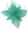 Failsworth Millinery Organza Leaves Fascinator in Turquoise