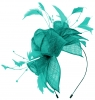 Max and Ellie Diamante Fascinator in Turquoise