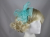 Molly and Rose Organza Fascinator in Turquoise