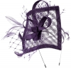 Max and Ellie Angular Sinamay Aliceband Fascinator in Violet