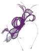 Max and Ellie Sinamay Fascinator in Violet