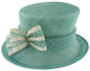 Failsworth Millinery Two Tone Bow Wedding Hat in Vista & Ivory