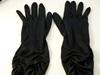 Wedding Gloves Black ruched