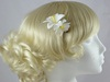 Micro Flower Clip in White