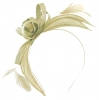 Failsworth Millinery Aliceband Sinamay Fascinator in White-Silver