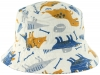 SSP Hats Character Cotton Sun Hat in White/Dino