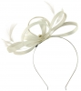 Failsworth Millinery Satin Loops Aliceband Fascinator in White