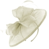 Failsworth Millinery Sinamay Disc Headpiece in White