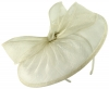 Failsworth Millinery Sinamay Disc in White