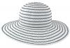 SSP Hats Striped Lightweight Sun Hat in White