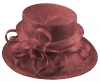 Elegance Collection Sinamay Loops Wedding Hat in Wine
