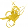 Aurora Collection Sinamay Loops Comb Fascinator in Yellow