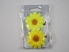 Daisy Hair Clips in Yellow