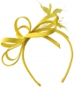 Elegance Collection Satin Loops Aliceband Fascinator in Yellow