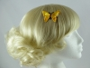 Embroidered Butterfly Clip in Yellow