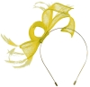 Max and Ellie Sinamay Fascinator in Yellow